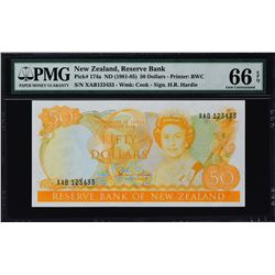 Reserve Bank of New Zealand. ND (1981-85), 50 & 100 Dollars. P-174a & 175a. PMG Graded.