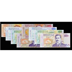 Reserve Bank of New Zealand. ND (1992-97), 5 too 50 Dollars. P-Various. Gem Uncirculated.