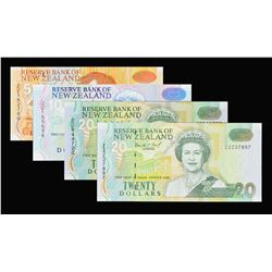 Reserve Bank of New Zealand. ND (1992-97), 5, 10 & 20 Dollars. P-various. Gem Uncirculated.