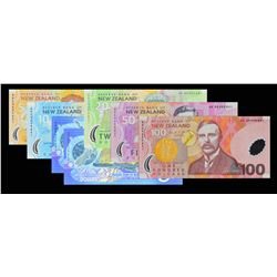 Reserve Bank of New Zealand. 1999-2000, 5 to 100 Dollars. P-Various. Gem Uncirculated.
