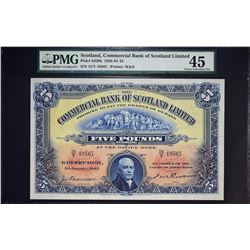 Commercial Bank of Scotland Limited. 5.1.1943, 5 Pounds. P-S328b. PMG Choice Extremely Fine 45.