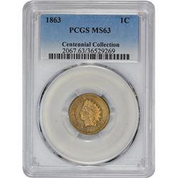 1863 MS-63 PCGS.