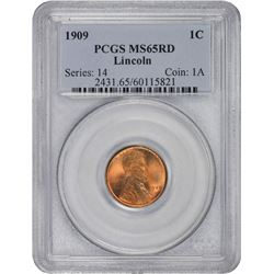 1909 Lincoln. MS-65 RD PCGS.
