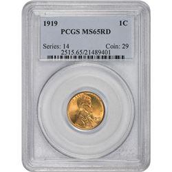 1919 MS-65 RD PCGS.