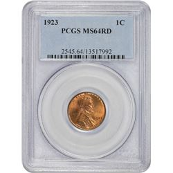 1923 MS-64 RD PCGS.