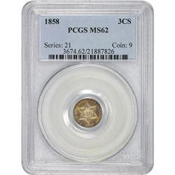 1858 MS-62 PCGS.