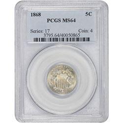 1868 MS-64 PCGS.