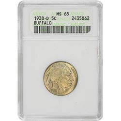 1938-D Buffalo. MS-65 ANACS.