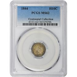 1844 Triple-Punched Date. MS-62 PCGS.
