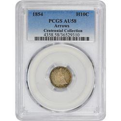 1854 Arrows. AU-58 PCGS.