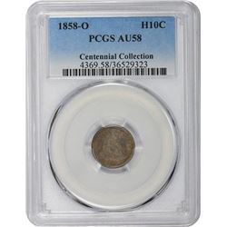 1858-O AU-58 PCGS.