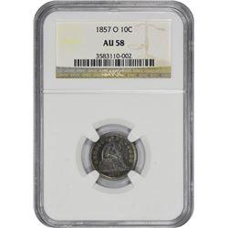 1857-O AU-58 NGC.
