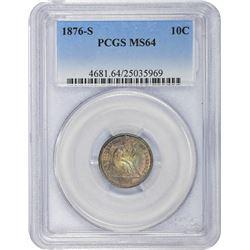 1876-S MS-64 PCGS.