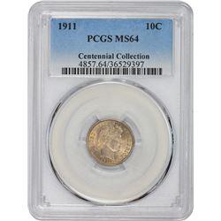1911 MS-64 PCGS.