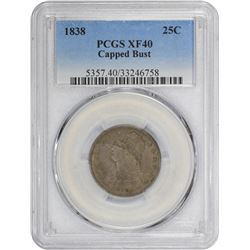 1838 Capped Bust. B-1. Rarity-1. EF-40 PCGS.