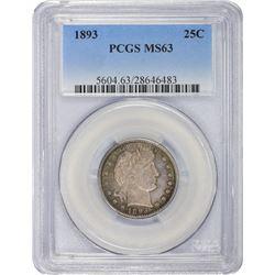1893 MS-63 PCGS.