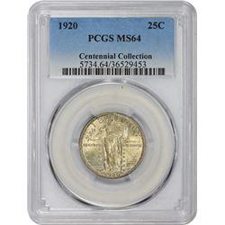 1920 MS-64 PCGS.