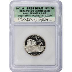 2001-S Kentucky. Clad. Proof-69 DCAM. ICG Artist Signature Series.
