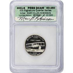 2001-S North Carolina. Clad. Proof-69 DCAM. ICG Artist Signature Series.