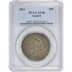 1811 O-105. Small 8. Rarity-3. EF-40 PCGS.