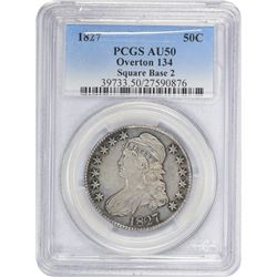 1827 O-134. Square Base 2. Rarity-4. AU-50 PCGS.