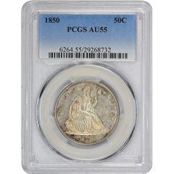 1850 AU-55 PCGS.