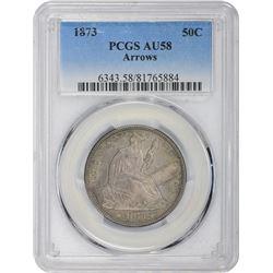 1873 Arrows. AU-58 PCGS