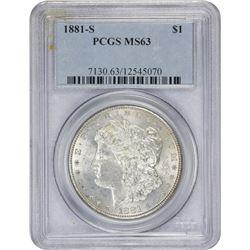 1881-S MS-63 PCGS.
