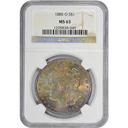 1885-O MS-63 NGC.