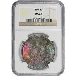 1886 MS-62 NGC.