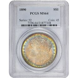 1890 MS-64 PCGS.