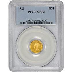 1881 MS-62 PCGS.