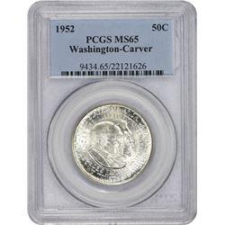 1952 Carver-Washington 50¢. MS-65 PCGS.