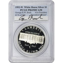 1992-W White House $1. President Edition. George H. W. Bush. Proof-69 DCAM PCGS.