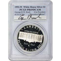 1992-W White House $1. President Edition. George H. W. Bush. Proof-69 DCAM PCGS.