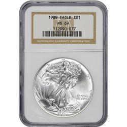 1989 American Eagle $1. MS-69 NGC.