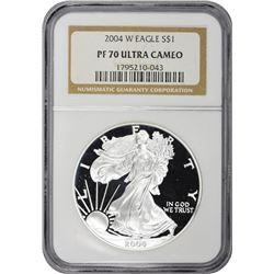 2004-W American Eagle $1. Proof-70 Ultra Cameo NGC.