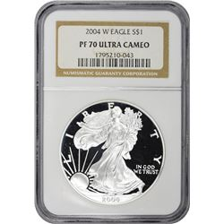 2004-W American Eagle $1. Proof-70 Ultra Cameo NGC.