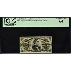 Lot of (2) Third Issue.  25 Cents Fractional Currency.  PCGS Currency Graded.