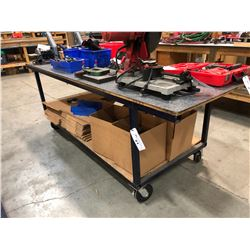 APPROX. 8' X 3' MOBILE WORK BENCH