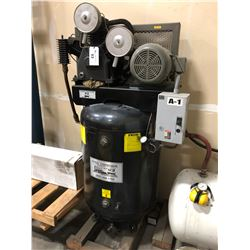 EATON FREIGHT TRAIN 10 HP COMPRESSOR, 120 GALLON TANK, 3 PHASE, 230/460 VOLT, MODEL F215T10M4A