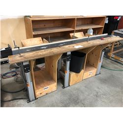 DORNER 8' CONVEYOR BELT WITH ADJUSTABLE STAND