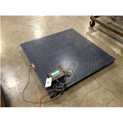 OPTIMA MODEL OP-900B NS WAREHOUSE PLATFORM SCALE, 5000 LB CAPACITY