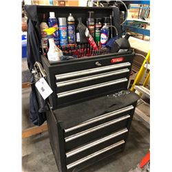 MECHANICS EDGE TOOL CHEST WITH CONTENTS INC. WRENCHES, SOCKETS, HAND TOOLS AND MORE