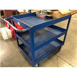 MOBILE 3 LEVEL WAREHOUSE CART
