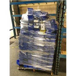 PALLET OF LARGE QUANTITY OF BLUE PARTS BINS