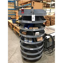 MOBILE SPINNING PARTS RACK
