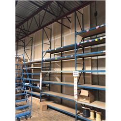 ROW OF 3 DOUBLE HIGH BAYS OF LIGHT DUTY WAREHOUSE RACKING