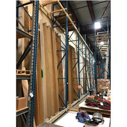 7 BAY ROW OF 24' HEAVY DUTY PALLET RACKING