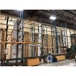 5 BAY ROW OF 24' HEAVY DUTY PALLET RACKING